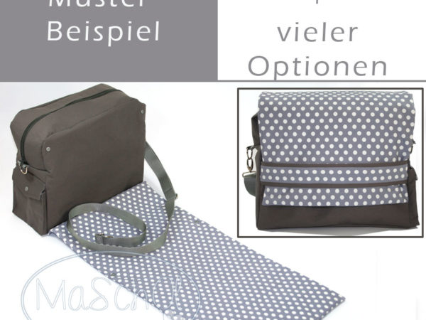 grosse Wickeltasche plus Optionen