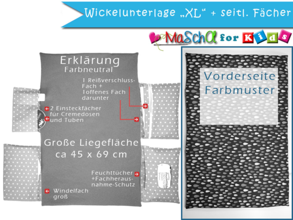 Skizze Wickelunterlage xl