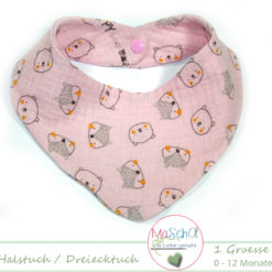 Baby-Halstuch Musselin rosa