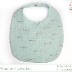 Baby-Halstuch Musselin mint BW